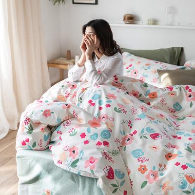 2020春夏新品-花卉风系列四件套 床单款三件套1.2m(4英尺)床 花语