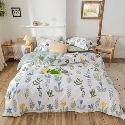 2020春夏新品-花卉风系列四件套 床单款三件套1.2m(4英尺)床 阑珊
