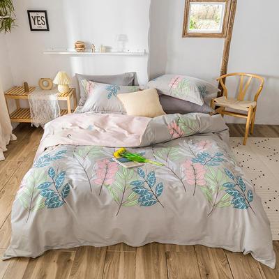 2020春夏新品-花卉风系列四件套 床单款三件套1.2m(4英尺)床 林林紫