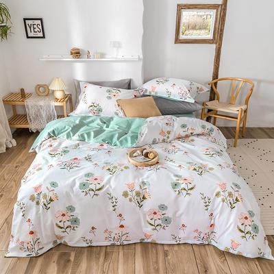 2020春夏新品-花卉风系列四件套 床单款三件套1.2m(4英尺)床 沫颂