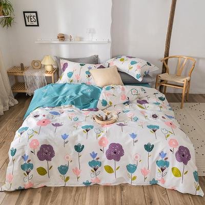 2020春夏新品-花卉风系列四件套 床单款三件套1.2m(4英尺)床 年华