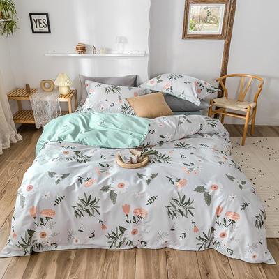 2020春夏新品-花卉风系列四件套 床单款三件套1.2m(4英尺)床 向日葵之恋