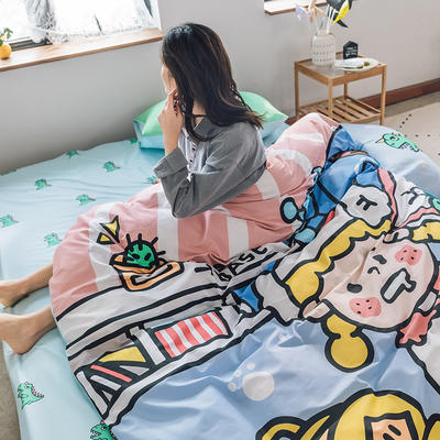 2020新款-大版卡通全棉系列四件套 床单款三件套1.2m(4英尺)床 安琪拉