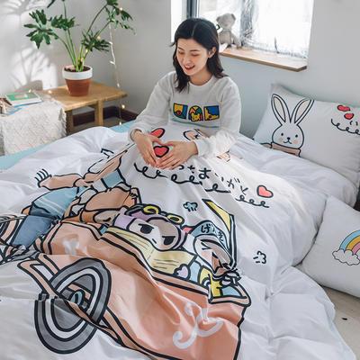 2020新款-大版卡通全棉系列四件套 床单款三件套1.2m(4英尺)床 彼得兔