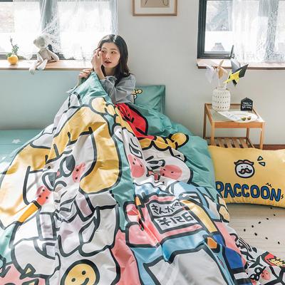 2020新款-大版卡通全棉系列四件套 床单款三件套1.2m(4英尺)床 收银员