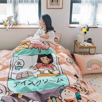 2020新款-大版卡通全棉系列四件套 床单款三件套1.2m(4英尺)床 雪糕量贩屋