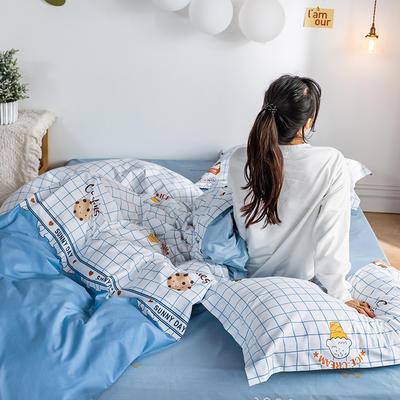 2020春夏新品-萌系卡通风系列四件套 床单款三件套1.2m(4英尺)床 糕点派对