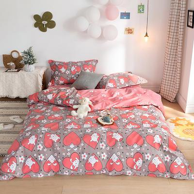 2020春夏新品-萌系卡通风系列四件套 床单款三件套1.2m(4英尺)床 兔精灵