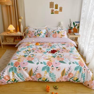 2020春夏新品-花卉风系列四件套 床单款三件套1.2m(4英尺)床 花絮