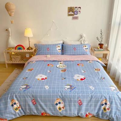 2020春夏新品-萌系卡通风系列四件套 床单款三件套1.2m(4英尺)床 小商店