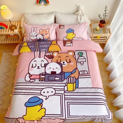 2020新款-窝米二次元大版卡通实拍图 床单款三件套1.2m(4英尺)床 蛋糕物语