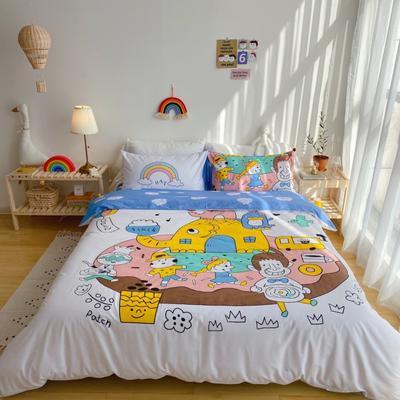 2020新款-窝米二次元大版卡通实拍图 床单款三件套1.2m(4英尺)床 甜甜圈