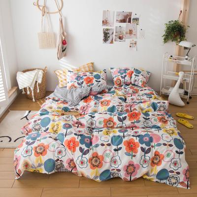 2020春夏新品-13370萌宠风系列四件套 床单款三件套1.2m(4英尺)床 房间