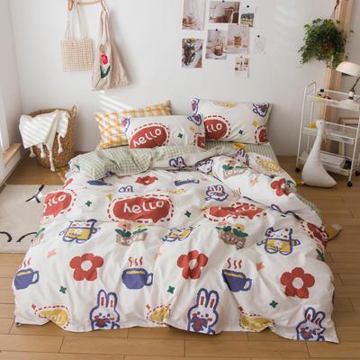 2020春夏新品-13370萌宠风系列四件套 床单款三件套1.2m(4英尺)床 小笨蛋