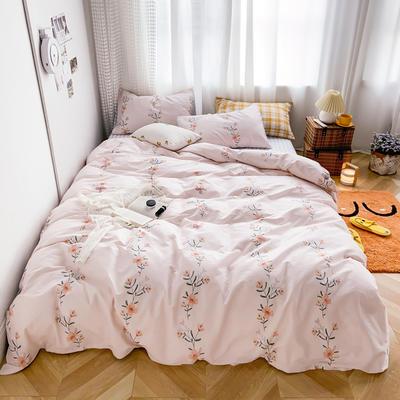 2020新款-13370小清新花卉风系列四件套 床单款三件套1.2m(4英尺)床 花瑾玉