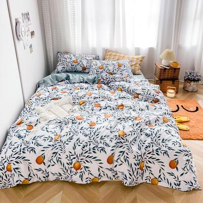 2020新款-13370小清新花卉风系列四件套 床单款三件套1.2m(4英尺)床 颂果