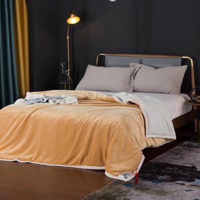 2020新款雙層貝貝絨毯蓋毯毛毯系列 1.2*2.0m 奧丁金