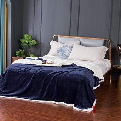 2021新款双层贝贝绒毯盖毯毛毯系列 1.2*2.0m 宝石蓝