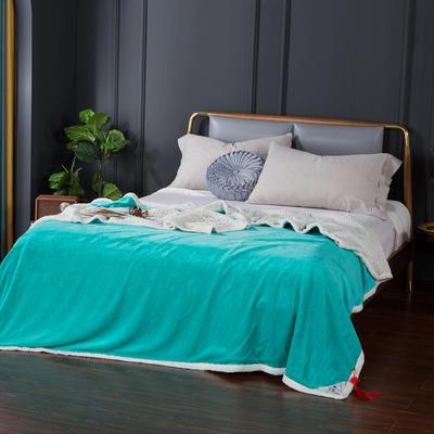2021新款双层贝贝绒毯盖毯毛毯系列 1.2*2.0m 翡翠绿