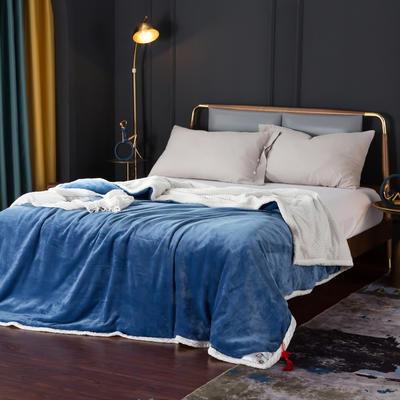2021新款双层贝贝绒毯盖毯毛毯系列 1.2*2.0m 天空蓝