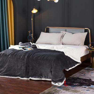 2021新款双层贝贝绒毯盖毯毛毯系列 1.2*2.0m 远山灰