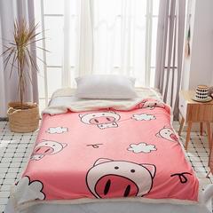 2019新款-毛毯 100*150cm 猪猪