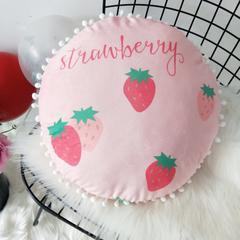 2019新款-ins风甜甜的草莓圆抱枕 43cm 草莓圆枕