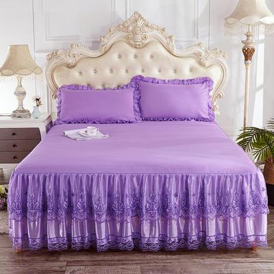 2019新款床裙三件套 150*200cm 浪漫紫