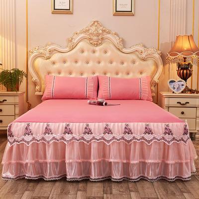 2019新款-豪华三层床裙三件套 1.5m床 单床裙 玉色