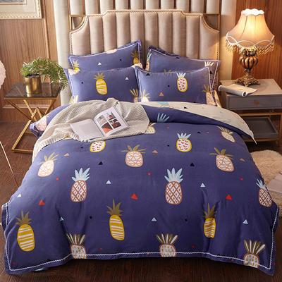 2019新款贡棉四件套 1.5m床单款四件套 菠萝蜜语