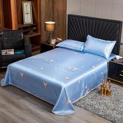 2020新款床单款冰丝席凉席 90*200cm(二件套) 鼠你开心-蓝