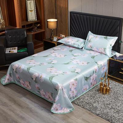 2020新款床单款冰丝席凉席 230*250cm 甜蜜的梦-蓝