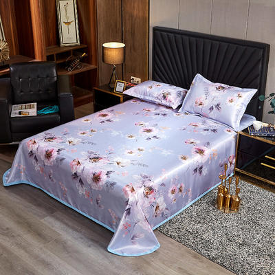 2020新款床单款冰丝席凉席 230*250cm 紫色回忆