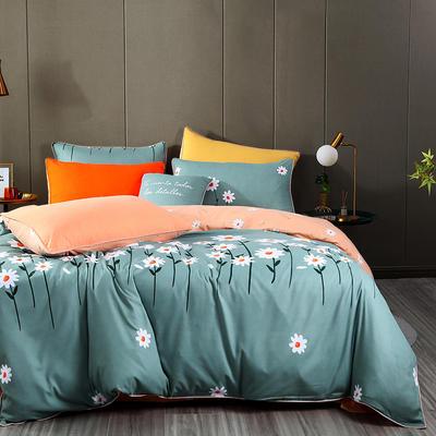2020新款125克亲肤四季棉磨毛四件套 1.5m(5英尺)床单款四件套 秋菊