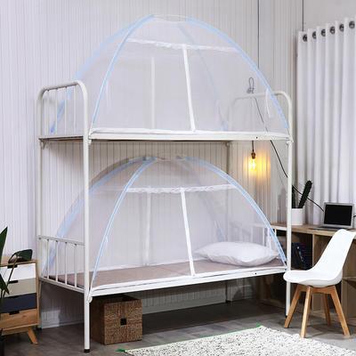 小清新免安装学生上下铺款 0.8米婴儿床双门款 蓝色