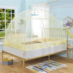 免安装家用蚊帐 1.2m(4英尺)床 黄