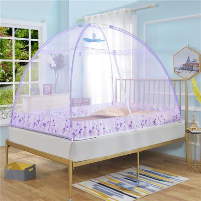免安装家用蚊帐 1.2m(4英尺)床 紫