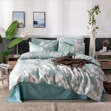 2019新款40全棉喷气活性斜纹13372四件套 1.2m(4英尺)床 艾尚-绿