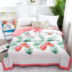 2019新款大版水洗棉夏被夏凉被 150x200cm 草莓派