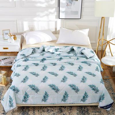 2019新款海藻棉夏被夏凉被 150x200cm 叶子丝语-绿