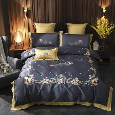 2019新款-100s长绒棉四件套 床单款1.5m(5英尺)床 爱的告白