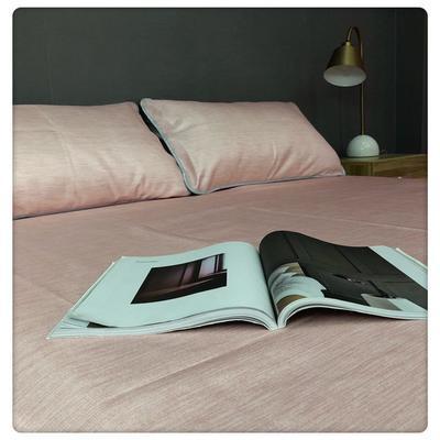 微商爆款无印良品风冰丝席凉席三件套床单款可折叠水洗空调席 1.5m(5英尺)床 少女粉