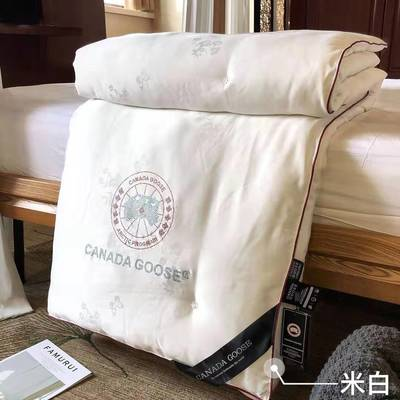 莫代尔大鹅蚕丝被全棉被子被芯微商爆款被子 220x240cm4斤 白色