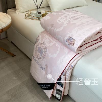 大鹅蚕丝被子被芯6斤8斤加厚冬被棉被子团购礼品被微商爆款 200x230cm6斤 玉色
