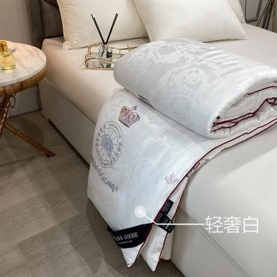 大鹅蚕丝被子被芯6斤8斤加厚冬被棉被子团购礼品被微商爆款 200x230cm6斤 白色