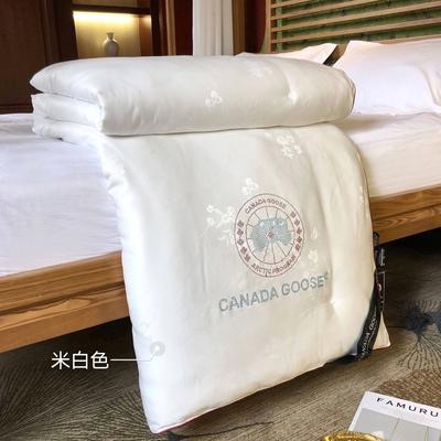 大鹅蚕丝被子被芯4斤6斤8斤加厚冬被棉被子团购礼品被微商爆款 200x230cm夏被 米白色