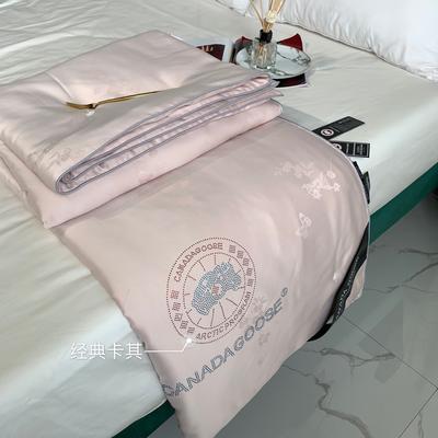 大鹅蚕丝被子被芯4斤6斤8斤加厚冬被棉被子团购礼品被微商爆款 200x230cm夏被 卡其色