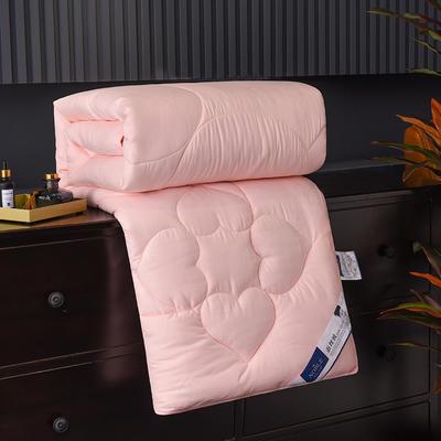 新款磨毛压花蚕丝被春秋被加厚保暖冬被夏凉被空调被子棉被芯 150x200cm3斤 玉色