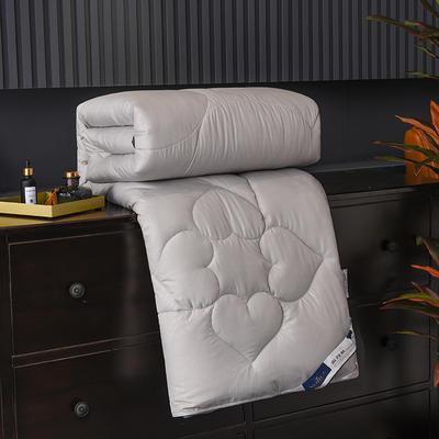 新款磨毛压花蚕丝被春秋被加厚保暖冬被夏凉被空调被子棉被芯 150x200cm3斤 灰色