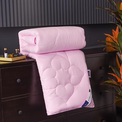 新款磨毛压花蚕丝被春秋被加厚保暖冬被夏凉被空调被子棉被芯 150x200cm3斤 粉色